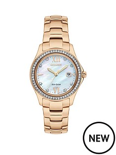 citizen-citizen-eco-drive-mother-of-pearl-dial-rose-gold-stainless-steel-bracelet-ladies-watch
