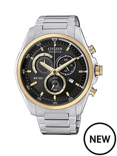 citizen-citizen-black-dial-with-gold-accents-stainless-steel-bracelet-mens-watch