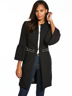 v-by-very-pearl-detail-longline-jacket