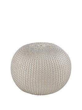 metallic-knitted-pouffe