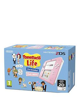 nintendo-2ds-2ds-pink-and-white-console-with-tomodachi-life