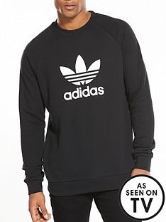 adidas-originals-trefoil-crew-neck-sweat-black