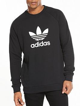 adidas Originals Adidas Originals Trefoil Crew Neck Sweat - Black Picture