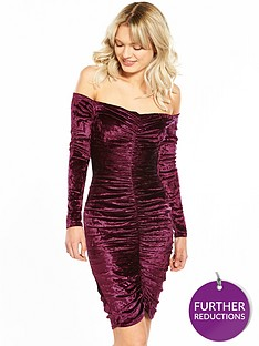 jessica-wright-thais-berry-velvet-midi-dress