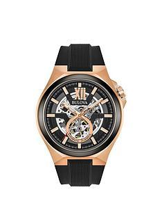 bulova-bulova-automatic-sports-skeleton-rose-gold-silicone-strap-mens-watch