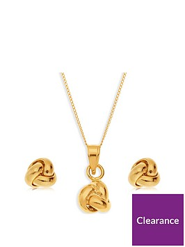 love-gold-9ct-yellow-gold-triple-knot-pendant-and-earring-set-with-18-inch-chain