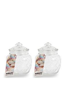 sabichi-embossed-jars-600-ml-set-of-2