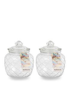 sabichi-embossed-jars-1400-ml-set-of-2