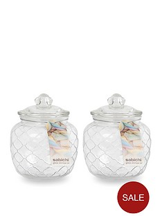sabichi-embossed-jars-1400-ml-set-of-2