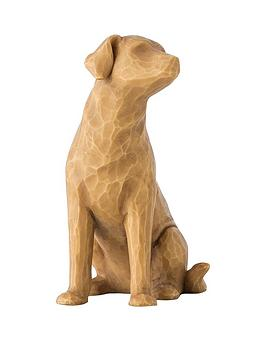 Product photograph showing Willow Tree Love My Dog Light Figurine