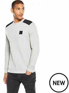 river-island-quilted-sleeve-crew-sweat