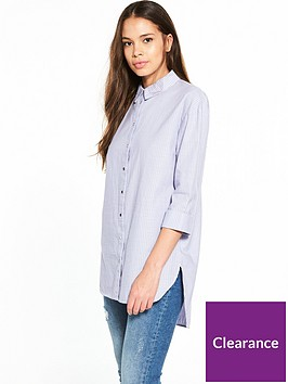river-island-river-island-oversized-stripe-tie-back-shirt
