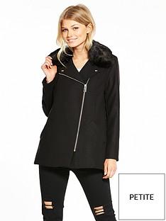 ri-petite-faux-fur-biker-collar-coat-black