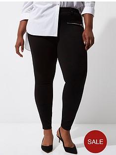 ri-plus-zip-detail-ponte-trousers