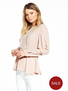 river-island-frill-sleeve-waisted-blouse