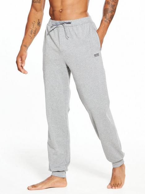 boss-bodywear-lightweight-cuffed-lounge-pants-grey-marl