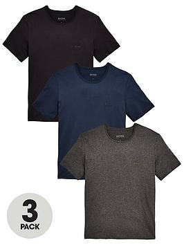 db7b50df1 BOSS Core T-Shirts (3 Pack) - Navy/Black/Charcoal | littlewoods.com