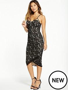 ax-paris-lace-cup-detail-bodycon-dress