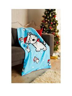 hamilton-mcbride-christmas-dog-fleece-throw