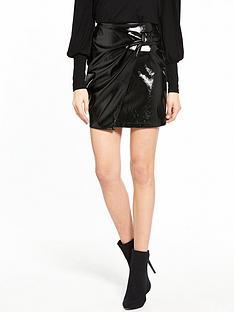 v-by-very-vinyl-bow-skirt