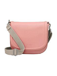 cath-kidston-cath-kidston-pink-plain-curved-saddle-bag