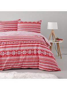 fairisle-christmas-100-brushed-cotton-duvet-cover-set