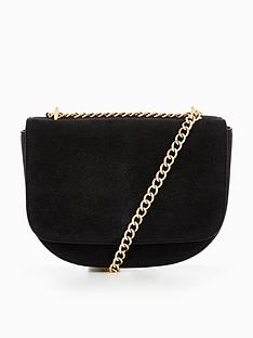 warehouse-suede-chain-detail-bag