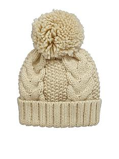 warehouse-cable-hat-with-yarn-pom-pom