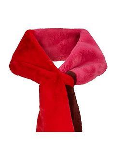warehouse-faux-fur-colour-block-scarf