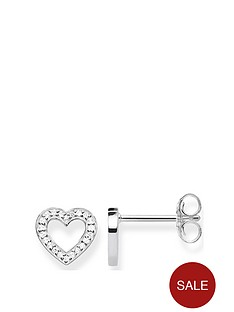 thomas-sabo-sterling-silver-cubic-zirconia-cut-out-heart-stud-earrings