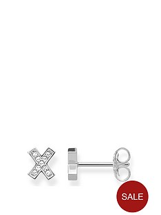thomas-sabo-sterling-silver-cubic-zirconia-classic-x-cross-stud-earrings