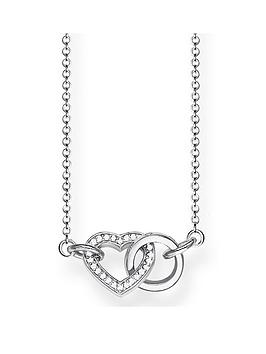 thomas-sabo-sterling-silver-cubic-zirconia-together-forever-heart-link-necklace