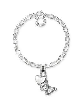 Thomas Sabo Thomas Sabo Sterling Silver Charm Club Bracelet With Butterfly  ... Picture