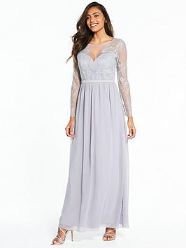 little-mistress-long-sleeve-lace-maxi-dress-grey