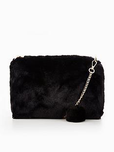 v-by-very-fur-pom-pom-chain-detail-bag
