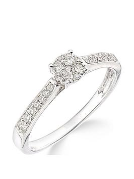 Love DIAMOND Love Diamond 9Ct White Gold 25 Points Of Diamonds Ring With  ... Picture