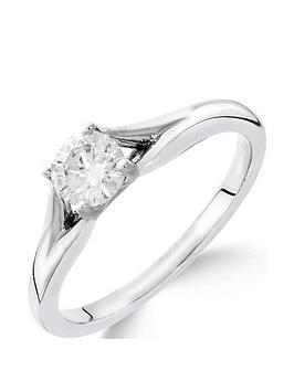 Love DIAMOND Love Diamond 9Ct White Gold 1 Carat Diamond Solitaire Ring  ... Picture