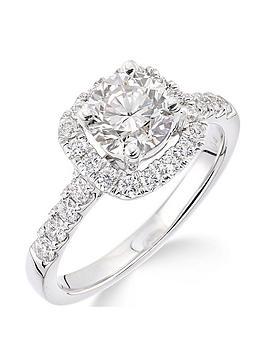 Love DIAMOND Love Diamond 18Ct White Gold Claw Set 70 Point Diamond Square  ... Picture