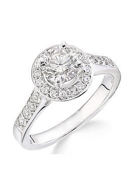 Love DIAMOND Love Diamond 18Ct White Gold Millgrain Edge 70 Point Diamond  ... Picture