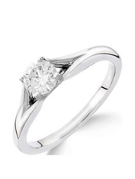 Love DIAMOND Love Diamond 9Ct White Gold 1/2 Carat Diamond Solitaire With  ... Picture