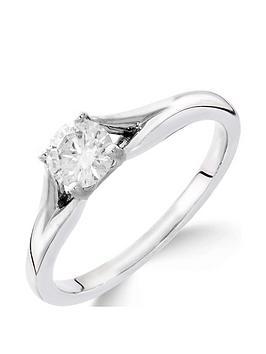 Love DIAMOND Love Diamond 9Ct White Gold 1/4 Carat Diamond Solitaire With  ... Picture