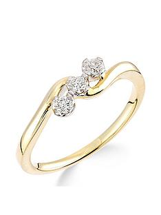 9ct-yellow-gold-15-point-diamond-trilogy-ring