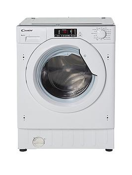 Candy   Cbwm816S 8Kg Load 1600 Spin Integrated Washing Machine - White - Washing Machine Only