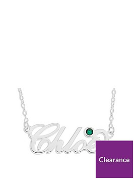 love-silver-sterling-silver-italic-personalised-birthstone-necklace