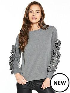 river-island-frill-sleeve-sweatshirt