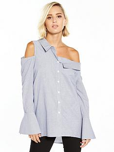river-island-one-shoulder-stripe-shirt