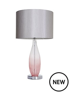 michelle-keegan-pink-ombre-glass-table-lamp