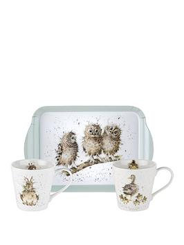 Royal Worcester Royal Worcester Wrendale Mug And Tray Set Picture