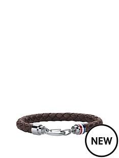 tommy-hilfiger-tommy-hilfiger-mens-brown-leather-bracelet