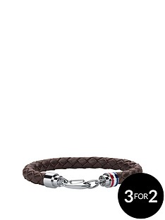 tommy-hilfiger-tommy-hilfiger-mens-brown-leather-bracelet